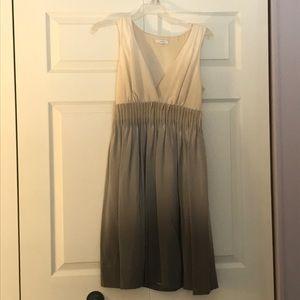 Gray cream ombré dress